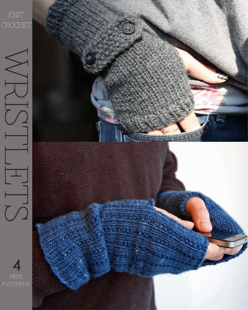 Hobo Gloves Knitting Pattern : wristlets - 2 free knit patterns. Except Id make them into hobo gloves ...