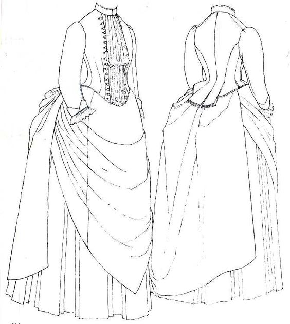 Victorian dress pattern The pattern for this is on the Macmillan Patterns of Fashion 1860-1940 by Janet Arnold and from the V&A