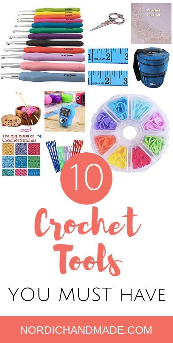 Top 10 Must Have Crochet Tools Supplies Beginner Crochet Projects Crochet Tools Crochet For Beginners