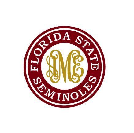 Florida State Seminoles Monogram instant download cut file - SVG DXF EPS ps studio3 studio (monogram font sold separately)