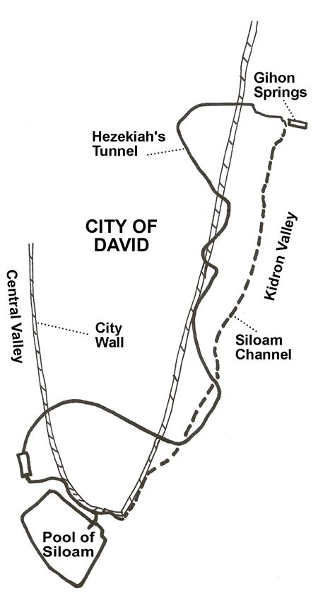 Hezekiah S Tunnel The Gihon Springs To The Pool Of Siloam