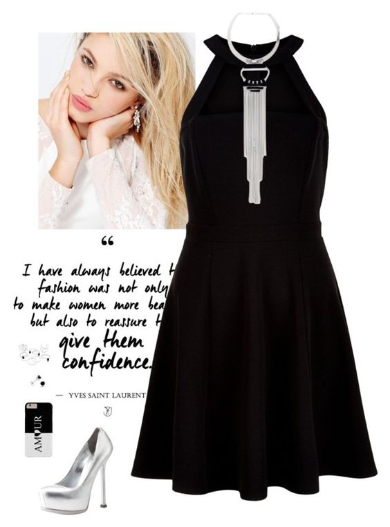 """⛓"" by lorena-hernandez-gonzalez on Polyvore featuring moda, Silvana, New Look, Bebe, Yves Saint Laurent y Amanda Rose Collection"