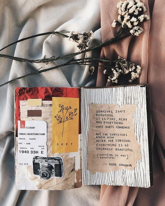 Art Journal Ideas - Collage: 15 Stunning Art journal, art journals, art journal ideas