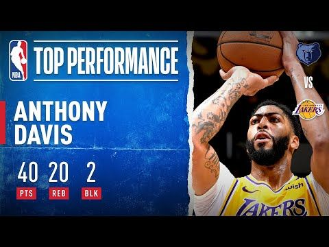 Anthony Davis Goes For 40 Pts And 20 Reb In Three Quarters Youtube Anthony Davis Anthony Three Quarter