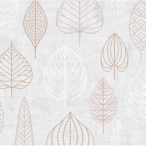 Nordic Leaf Floral 10m X 52cm Metallic Finish Paste The Wall Wallpaper Roll East Urban Home In 2021 Blush Pink Wallpaper Rose Gold Wallpaper Gold Wallpaper