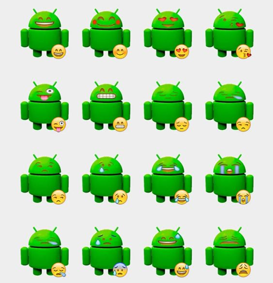 Android Emotion Stickers Set | Telegram Stickers