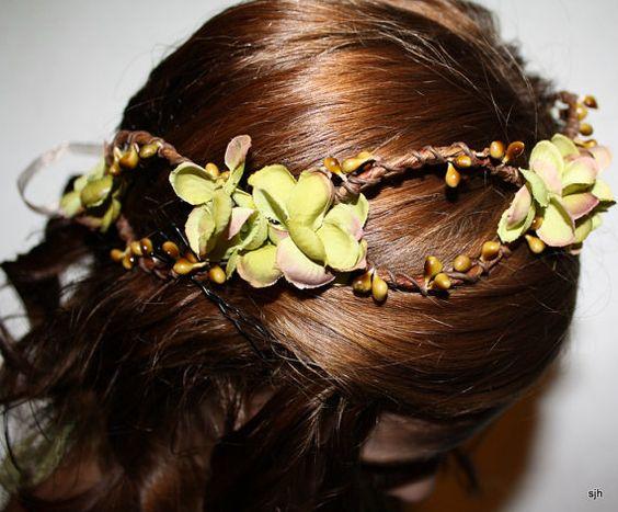 Cheveux bruns et orchidées…