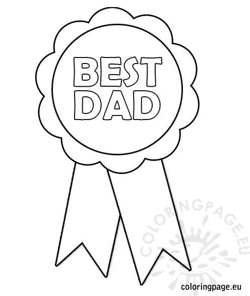 Father S Day Rosette Best Dad Certificate Templates Dad Printable