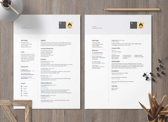 Free Ai Doc Docx Perfect Resume Template And Cover Letter For Architects Designers Good Resume