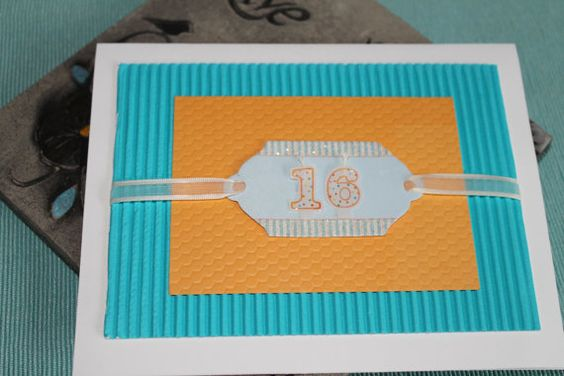 Sweet 16 Birthday Card by AllOnAHeartstring on Etsy, $4.44