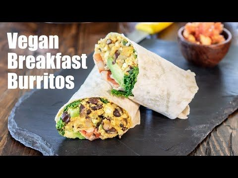 Vegan Breakfast Burrito Recipe Vegan Pancakes Vegan Pancake Recipes Vegan Breakfast Burrito