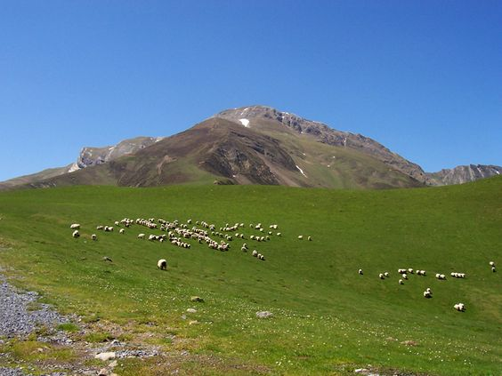 Le Pic d'Orri vu du haut du bois de Saint Joseph, Larrau, montagne basque.