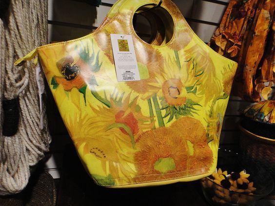 Van Gogh Sunflowers handbags | ... go with the sunflower socks and the Starry Night tie: a sunflower bag
