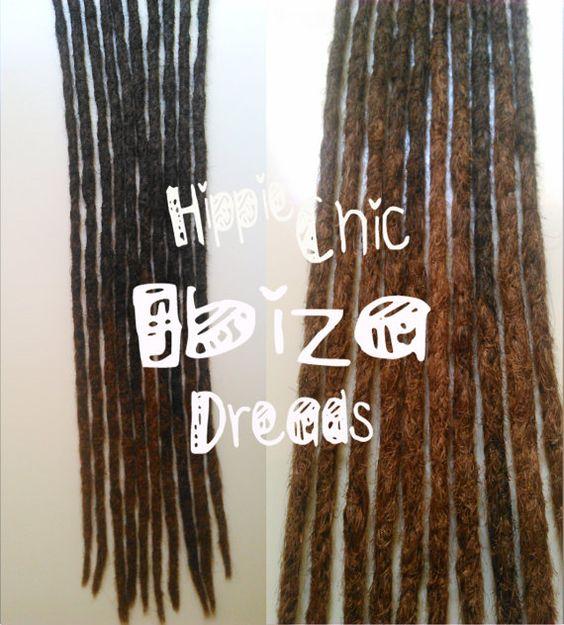 5   Medium Clip-in Human hair dread extension  by hippiechicdreads