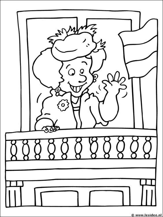 kleurplaat koningin koningin beatrix