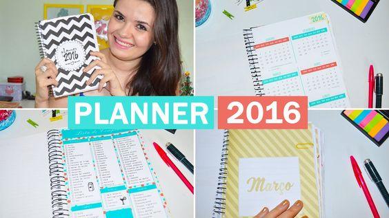 Planner 2016 para download ♥ Baixe o seu!