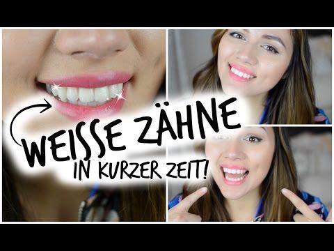 WEIßE ZÄHNE in 5 Minuten | Meine Zahnpflegeroutine + Tipps! - YouTube