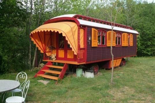 World's most unusual mobile homes: Roulottes Gypsy Caravans -Fans of kitschy décor will adore the ornate look of these unique homes on wheels. The interiors look more like your grandma Enid's living room than the inside of a trailer! 1 of 2