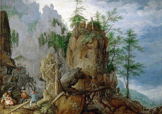 Рулант Саверей - Горный пейзаж с лесорубами. Музей истории искусств