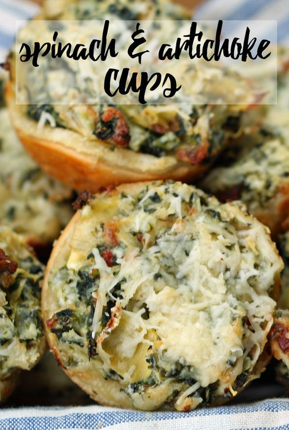 These Spinach And Artichoke Cups Are Everything You Need In Your Life