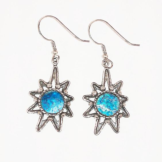 Roman Glass Starburst Earrings