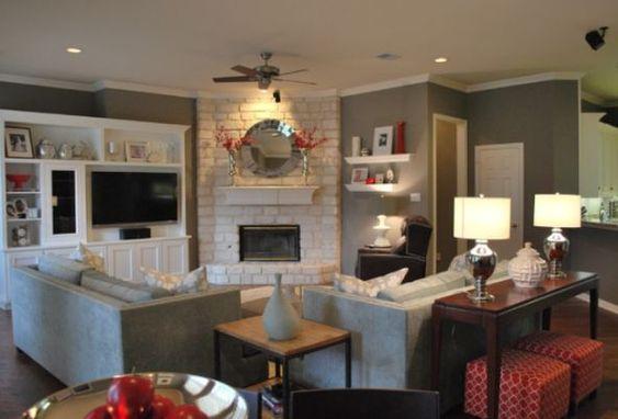 Corner Fireplaces Furniture Arrangement And Living Room Furniture On Pinterest