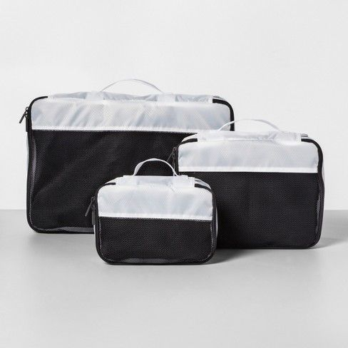 3pc Packing Cube Set White Made By Design Made By Design Packing Cubes Traveling By Yourself