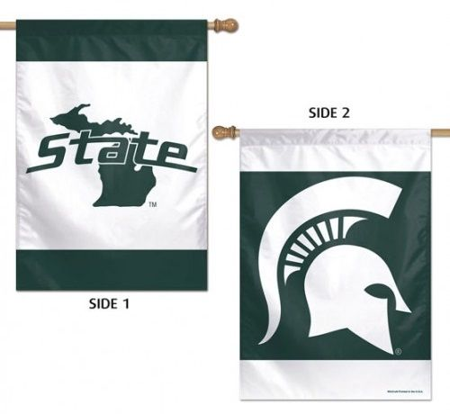 Michigan State Spartans Flag 2 Sided Logo House Banner Home Logo Logo Banners Michigan State Spartans