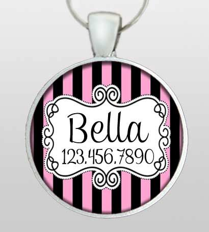 Pet ID Tag - Dog Tag - Dog Name Tag - Victorian Inspired Scroll - Dog Tags for Dogs - Gifts Under 10 - Gifts for Dogs  - Design No. 176