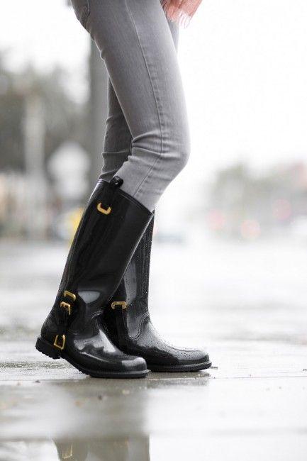 Casual Rainday :: Ralph Lauren rain boots.