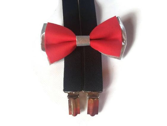 Party and Wedding Bow Tie for men Silk martial handmade bowtie for boys Best with suspenders Dog patterns and logo in Navy Blue and Yellow