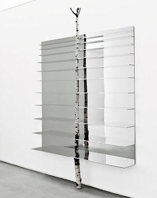 Branzi birch shelf: