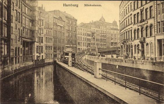 Ansichtskarte / Postkarte Hamburg, Am Mönkedamm, Brücke, | akpool.de