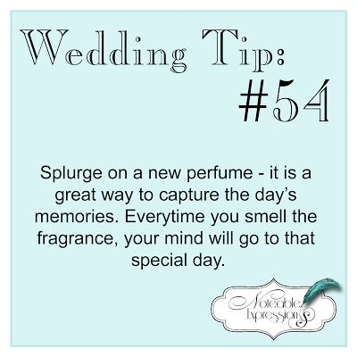 Wedding Tip: A new perfume gives your wedding day its own signature scent