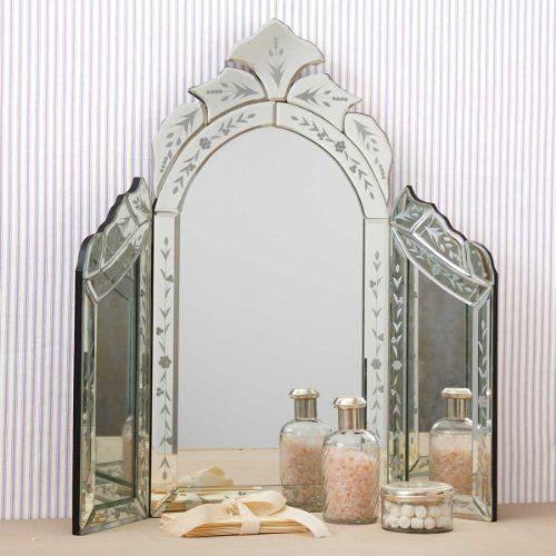 Dressing Table Mirror, Triple Fold Dressing Table Mirror
