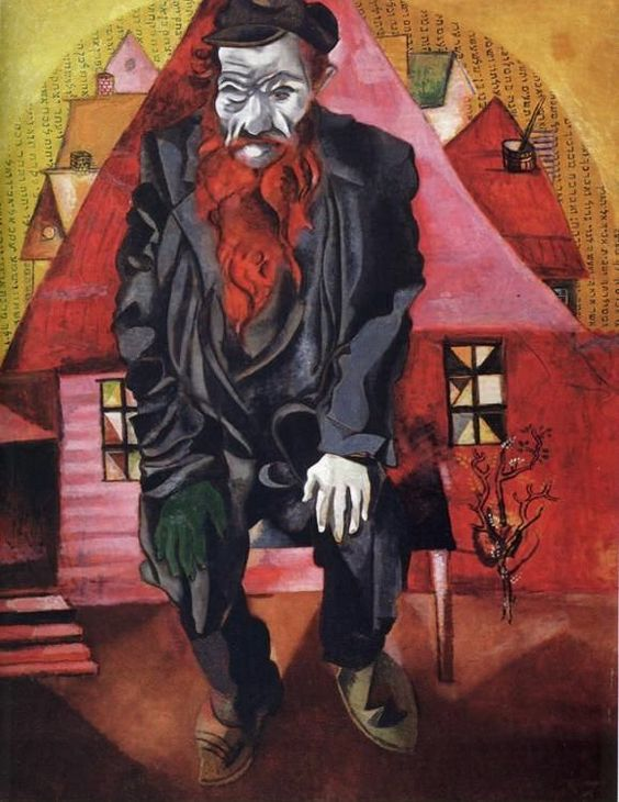 Red jew 1915 - by Marc Chagall