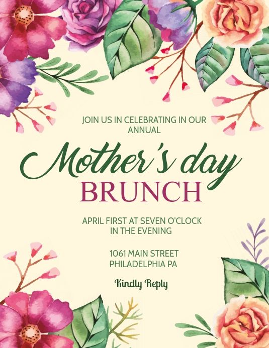 Mother S Day Brunch Mothers Day Poster Mothers Day Brunch Mothers Day