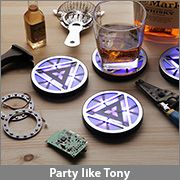 #Marvel Iron Man 3 Arc Reactor Light-Up Coasters