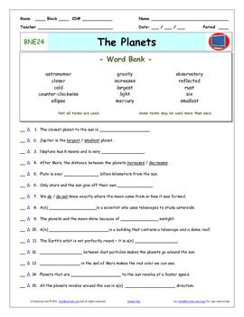 Printables Bill Nye Worksheets science worksheets and bill obrien on pinterest nye planets worksheet answer sheet two quizzes for nye