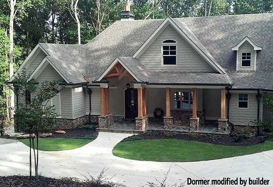 Craftsman house plans and front porches on pinterest for Mountain craftsman house