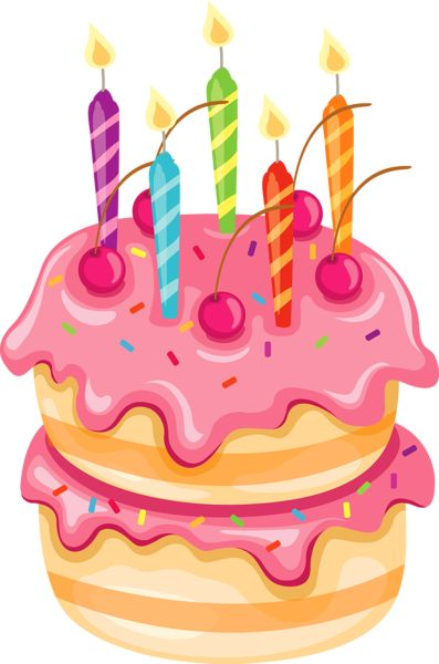 Cake Clip Art Candles : Pink Cake with Candles PNG Clipart Imagenes cumpleanos ...