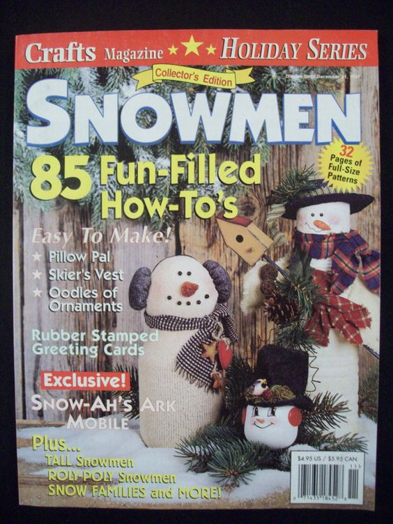Snowmen Collector's 1997 Edition Magazine 85 by Noahslady4Patterns, $4.25