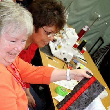 Serger Club: Making a cute clutch. We laughed, we serged and we left with our cute little clutches.