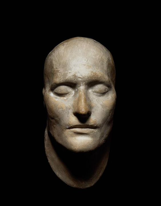 Death mask of Napoleon, taken on the Island of St Helena on 7 May 1821, two days after his death,