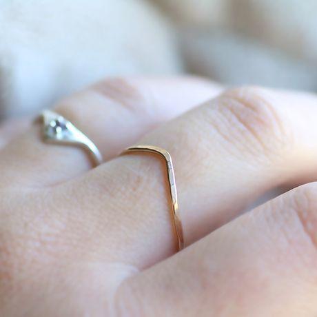 Chevron Ring - Gold - alt_image_three