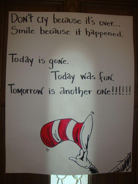Goodbye Poster   Dr. Seuss Birthday Party   Pinterest ...