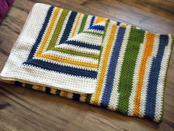 Cera Boutique: Double Crochet Cluster Scrap Blanket