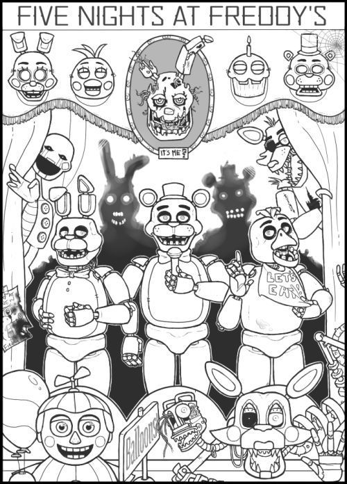 Splendid Fnaf Coloring Pages Printable Pin By Natalie Anne On Five