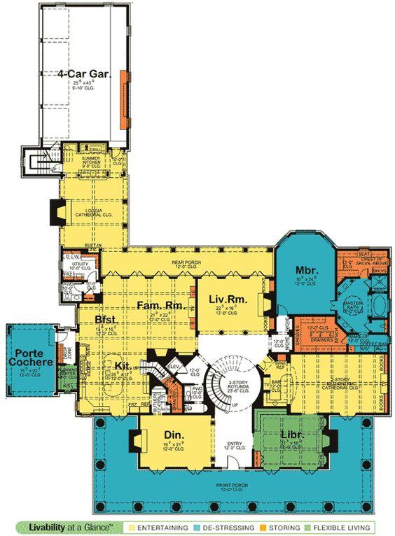 Plan de W42156DB: Plantación de estilo, lujo, Galería de Fotos, Lote de esquina, Planes Casa Sur y Home Designs
