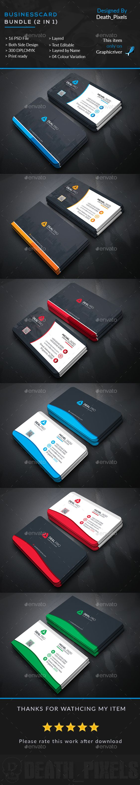 Business Card Templates PSD Bundle (2 in 1)